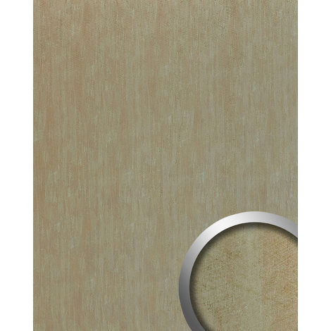 Wall panel metal look WallFace 20197 METALLIC USED Ivory AR smooth Design panelling used look glossy self-adhesive abrasion-resistant ivory light-grey 2.6 m2