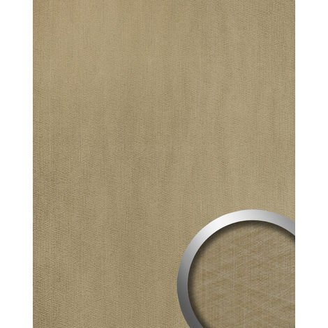 Wall panel metal look WallFace 20198 METALLIC USED Champagne AR smooth Design panelling used look glossy self-adhesive abrasion-resistant grey grey-beige 2.6 m2