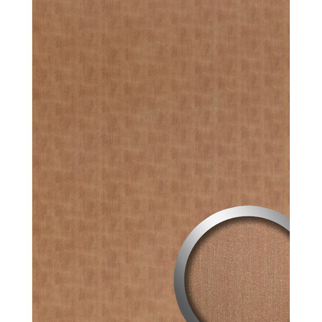Wall panel metal look WallFace 20199 SLIGHTLY USED Copper AR smooth Design panelling used look brushed self-adhesive abrasion-resistant copper brown-grey 2.6 m2