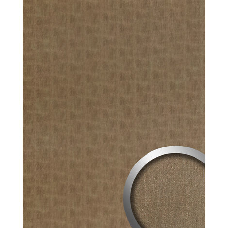 Wall panel metal look WallFace 20200 SLIGHTLY USED Bronze AR smooth Design panelling used look brushed self-adhesive abrasion-resistant bronze brown-grey 2.6 m2