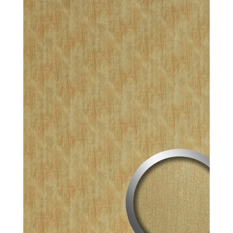 Wall panel metal look WallFace 20201 SLIGHTLY USED Gold AR smooth Design panelling used look brushed self-adhesive abrasion-resistant gold brown-beige 2.6 m2