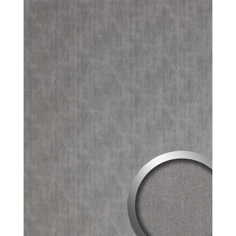 Wall panel metal look WallFace 20202 SLIGHTLY USED Titan AR smooth Design panelling used look brushed self-adhesive abrasion-resistant silver grey 2.6 m2