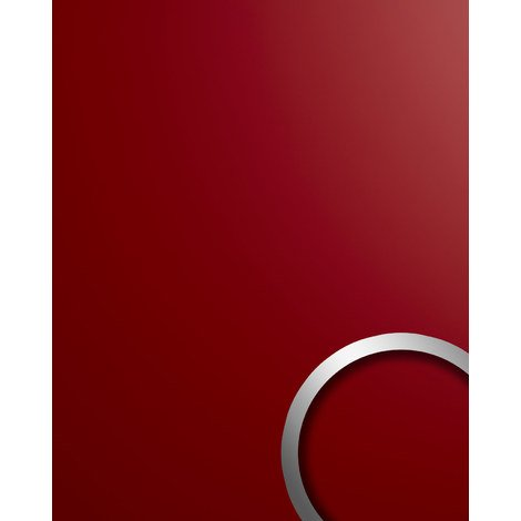 Wall panel plastic look WallFace 19522 Magic Red smooth Decor panel unicoloured matt self-adhesive abrasion resistant red 2.6 m2
