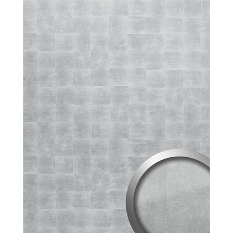 Wall panel self-adhesive Metal design WallFace 21497 DECO LUXURY Luxury wallcovering self-adhesive silver-grey 2.60 sqm