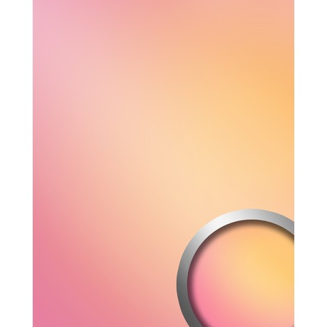 Wall panel self-adhesive Mirror design glossy look WallFace 18442 DECO HOLLYWOOD Luxury wallcovering pink orange multicolour 2.6 sqm