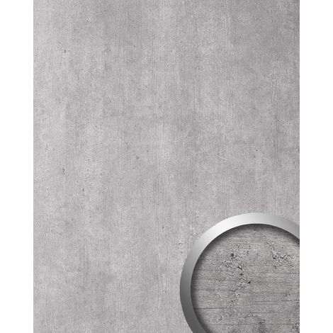Wall panel stone look WallFace 19563 Antigrav CEMENT Light textured Decor panel concrete look matt grey light grey 2,6 m2