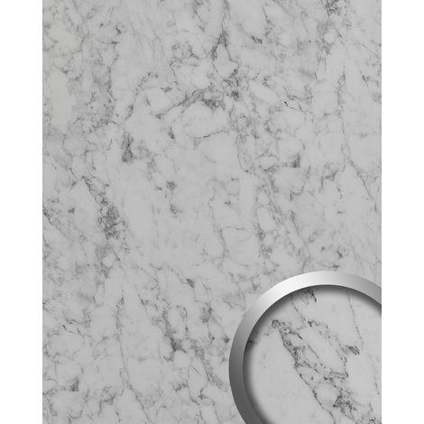 Wall panel stone look WallFace 19566 Antigrav MARBLE White textured Decor panel marble look matt white grey white 2,6 m2