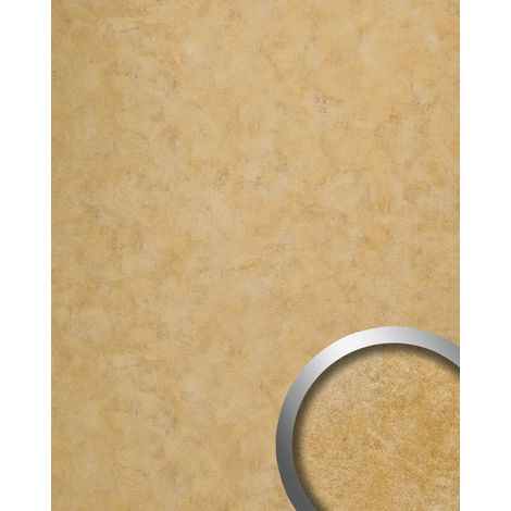 Wall panel vintage look WallFace 19021 CLASSY GOLD smooth Design Panelling metal look glossy self-adhesive abriebfest gold 2.6 m2