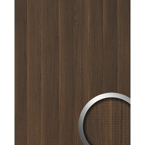 Wall panel wood look WallFace 19030 NUTWOOD walnut wood decor natural look and feel self-adhesive wall panelling dark brown 28 sq ft (2.60 sqm)