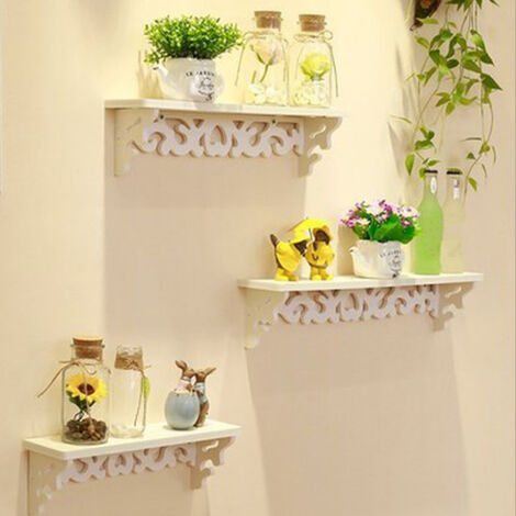 Wall Shelf 3 Set Floating Shelves Ledge for Picture Frames and Books