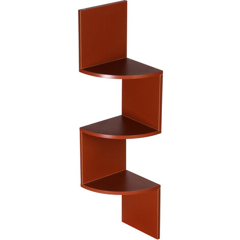 Wall shelf Corner shelf Bookcase 3 levels 20x20x80 cm Wood