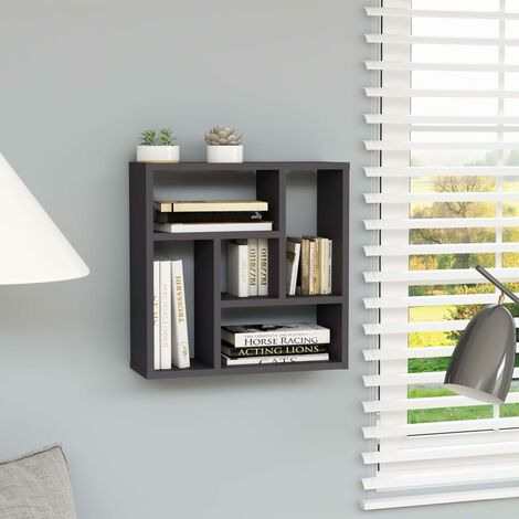 Wall Shelf Grey 45.1x16x45.1 cm Chipboard