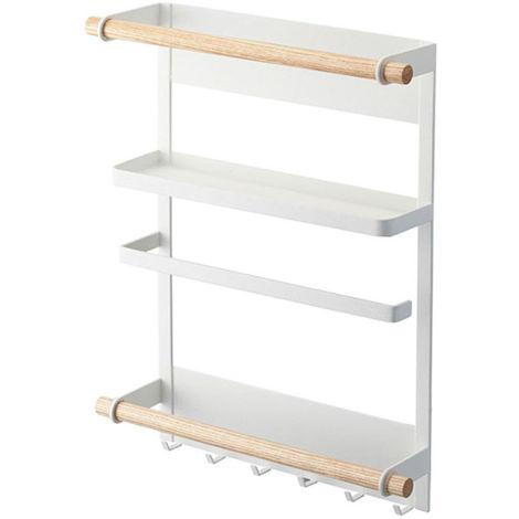 Wall Shelf Iron Fridge Rack Kitchen Supplies Multi Function Hanging Storage Shelf Organizer