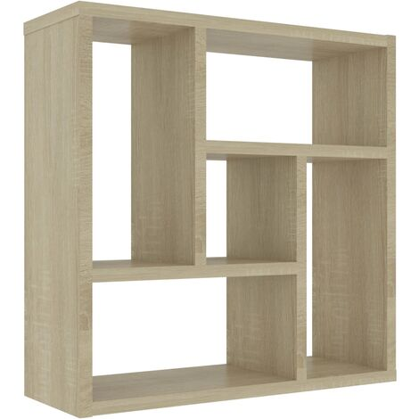 Wall Shelf Sonoma Oak 45.1x16x45.1 cm Chipboard