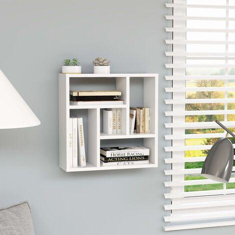 Wall Shelf White 45.1x16x45.1 cm Chipboard