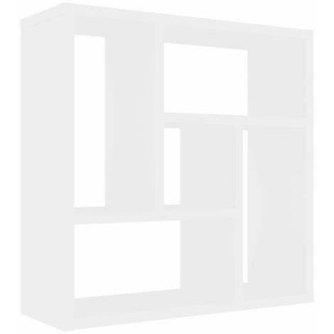 Wall Shelf White 45.1x16x45.1 cm Chipboard
