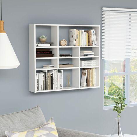"main image of ""Wall Shelf White 90x16x78 cm Chipboard"""