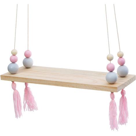 Wall Shelf Wood Shelf With Ropes Hanging Fringe Decor Home Storage Sasicare