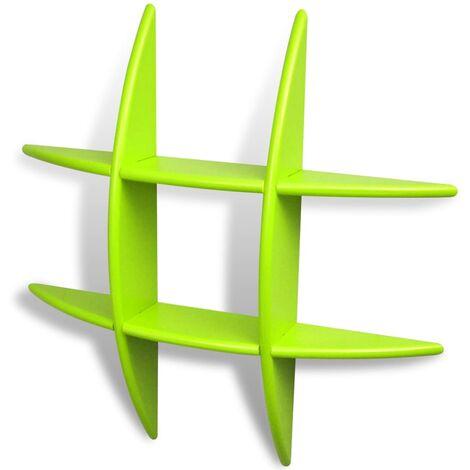 Wall Shelves 2 pcs Green