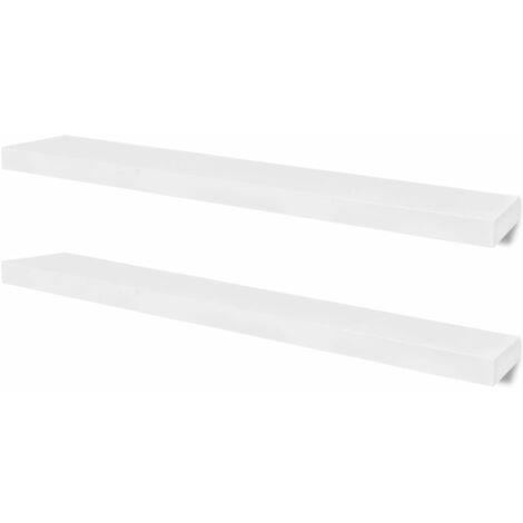 Wall Shelves 4 pcs White 100 cm