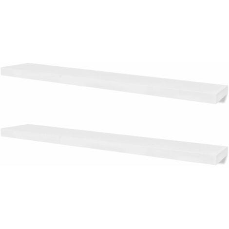 Wall Shelves 4 pcs White 120 cm