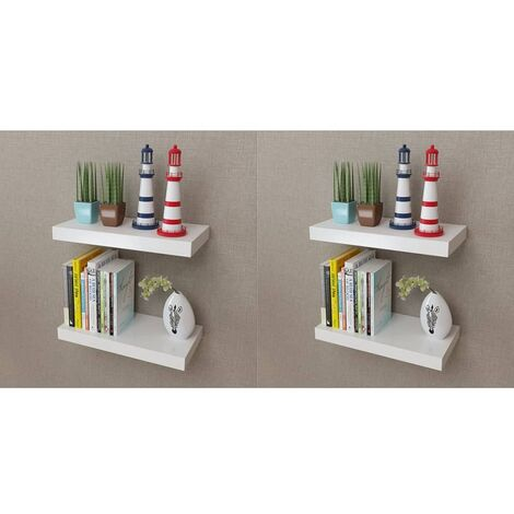 Wall Shelves 4 pcs White 40 cm