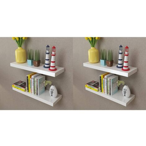 Wall Shelves 4 pcs White 60 cm