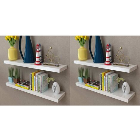 Wall Shelves 4 pcs White 80 cm