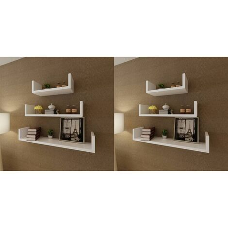 Wall Shelves 6 pcs White