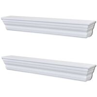 Wall Shelves Aaliyah 2 pcs White