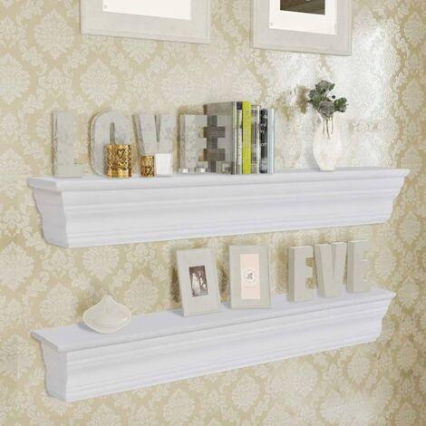 Wall Shelves Aaliyah 2 pcs White - White