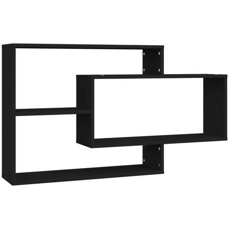Wall Shelves Black 104x20x60 cm Chipboard
