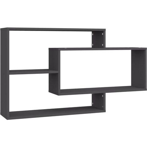 Wall Shelves Grey 104x20x60 cm Chipboard