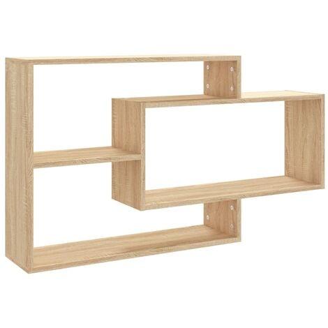 Wall Shelves Sonoma Oak 104x24x60 cm Chipboard