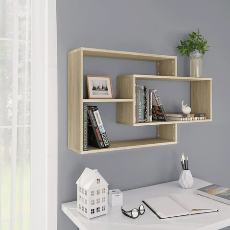 Wall Shelves Sonoma Oak 104x24x60 cm Chipboard