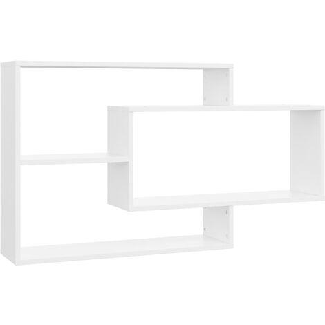 Wall Shelves White 104x20x60 cm Chipboard