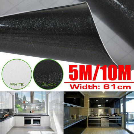 Wall Sticker Kitchen Worktop Glitter Vinyl Self Stickers Adhesive Wallpaper Sticky Home Decoraion(black,5M)