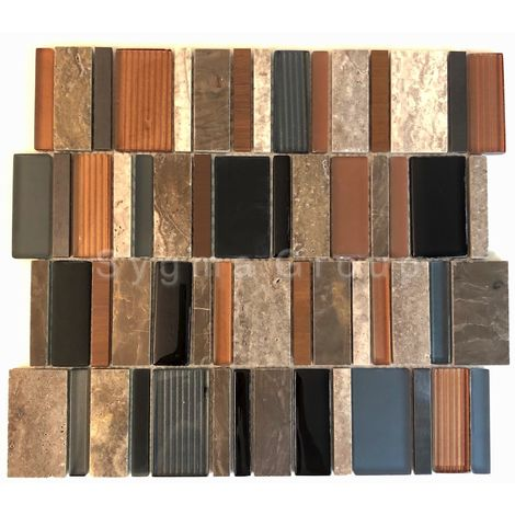 Wall tiles glass and stone mosaic and metal mosaic JAELL