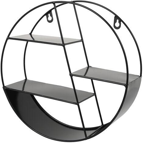 Wall Unit Metal Wire Hanging Shelf Rack Storage Display