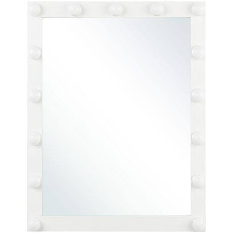 Wall Vanity Mirror LED 50 x 60 cm White ODENAS