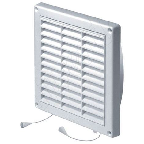 Wall Ventilation Grille Duct Cover with Net Pull Cord and Shutter 130x130mm