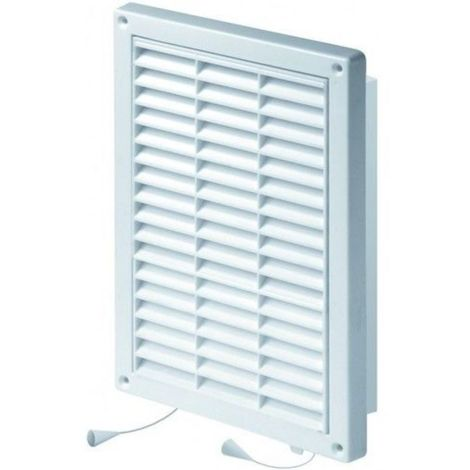 Wall Ventilation Grille Duct Cover with Net Pull Cord and Shutter 130x200mm