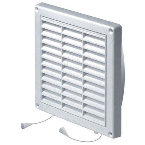 Wall Ventilation Grille Duct Cover with Net Pull Cord and Shutter 200x200mm