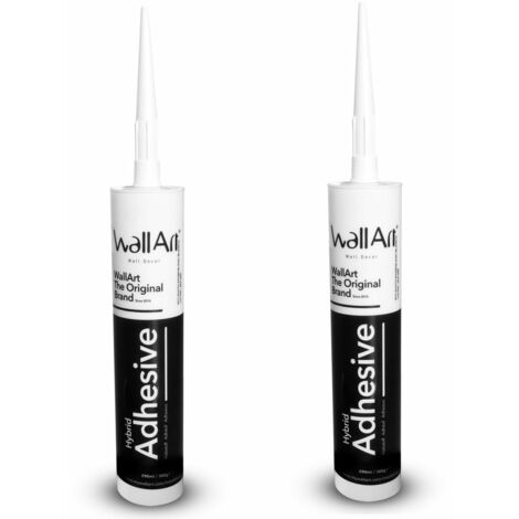 WallArt 1/2x Hybrid Adhesives for Sealing 3D Wall Panel Fast Curing Paintable High Tensile Strength Durable Elastic Professional Glue