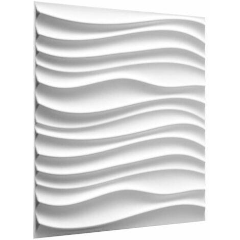 WallArt 12/24x Panneaux Muraux 3D Maxwell Papier Peint Salle de Bain Salon