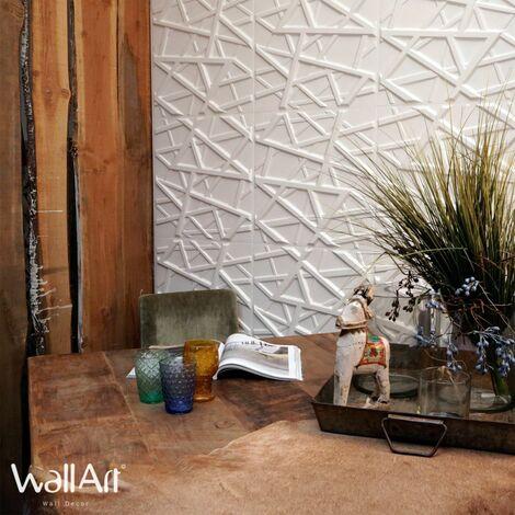 WallArt 12/24x Panneaux Muraux 3D Olivia Papier Peint Salle de Bain Salon