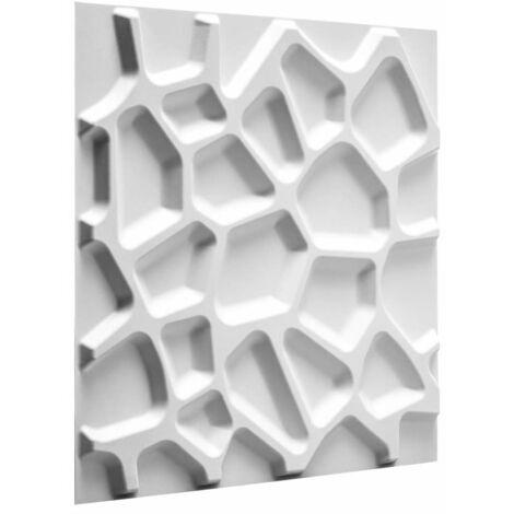 WallArt 24 pcs 3D Wall Panels GA-WA01 Gaps - White