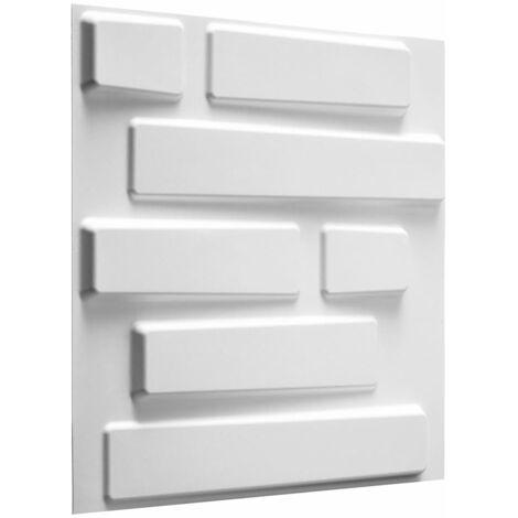 WallArt 24 pcs 3D Wall Panels GA-WA02 Bricks - White
