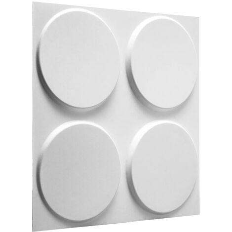 WallArt 24 pcs 3D Wall Panels GA-WA03 Ellipses - White