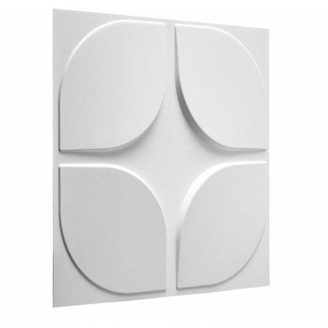 WallArt 24 pcs 3D Wall Panels GA-WA06 Sweeps - White